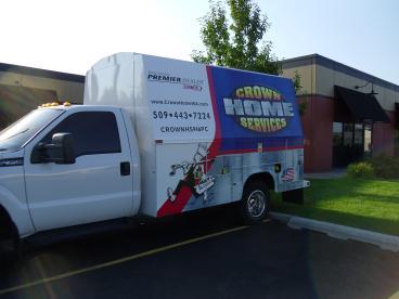 Crown/CDA Heating work truck wrap