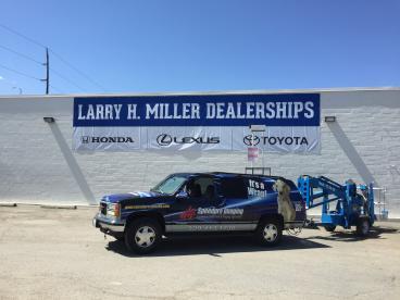 Larry H Miller Building Banner