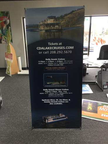 CDA Lake Cruises Banner Stand