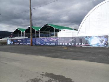 Mesh Fence advertising banner
