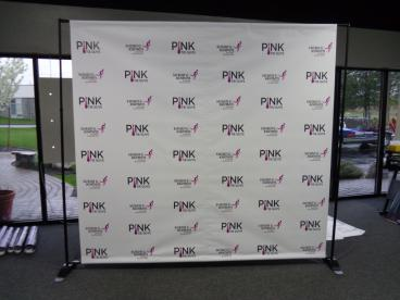 Step and Repeat banner for Pink Tie Guys Susan G Komen event