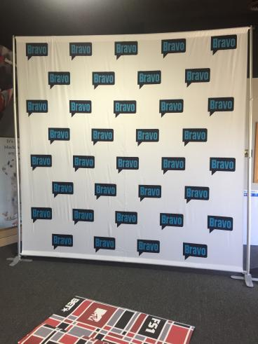Bravo TV Step and Repeat photo backdrop