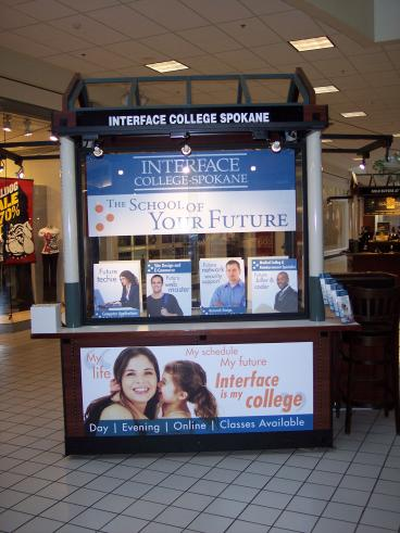 Interface College mall display kiosk