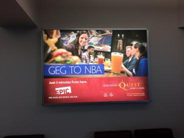 Backlit displays at Spokane International Airport