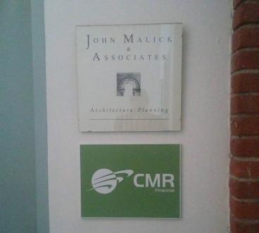 CMR Financial Plaque