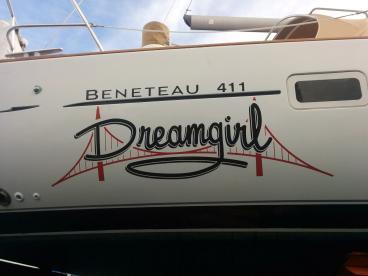 Dreamgirl Boat Lettering Alameda