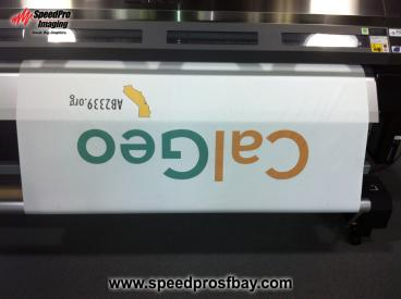 Event banner being printed