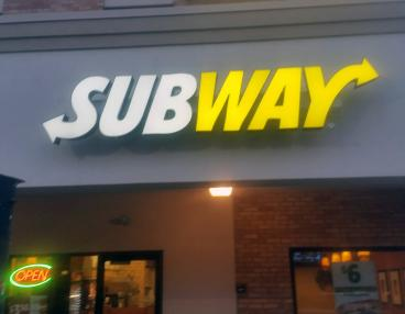 Subway sign replacement - McKnight Road