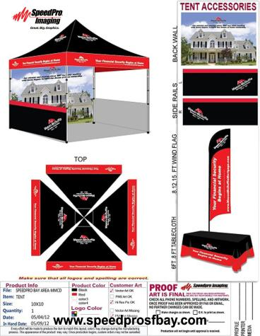Tent layout for client approval