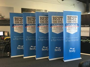 Hoag Hospital Best Hospitals Retractable Banner Stands