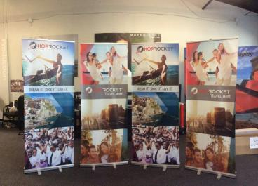 Hop Rocket Retractable Banner Stand Set 1