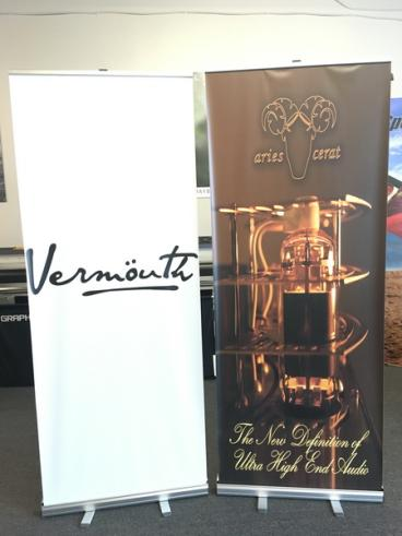 Vermouth and Aries Carat Retractable Banner Stand