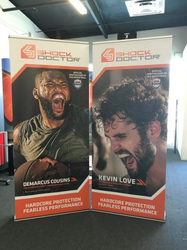 United Sports Brand Retractable Banner Stands Set 2
