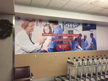 WSU Medical School wall mural