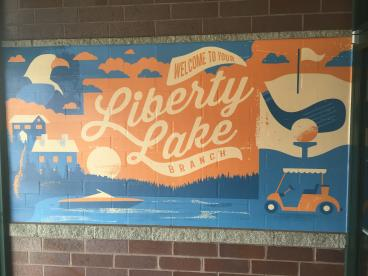 Horizon Credit Union brick wall mural