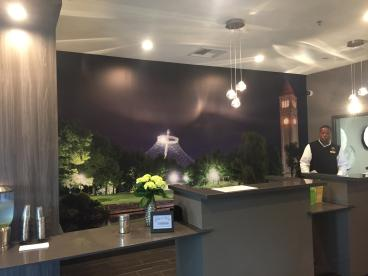 LaQuinta Inn Front Desk Wall mural