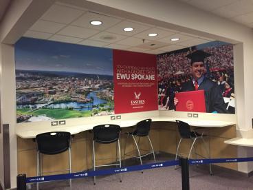 Spokane International Airport business center mural