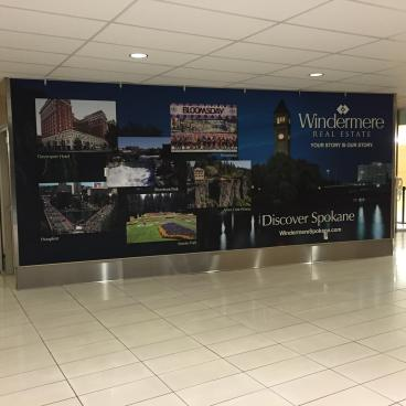 Windermere Real Estate wall mural Lamar advertising