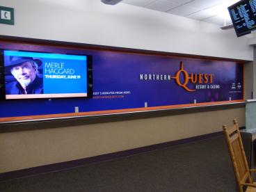 Northern Quest Casino display wall