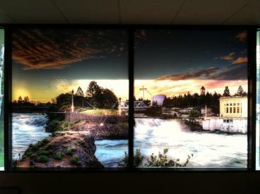 Interior window graphics Eagle Mortgage