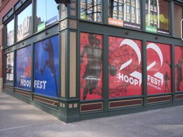 Hoopfest window graphics