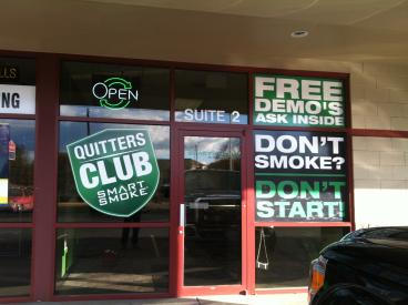 Smart Smoke outdoor retail signage