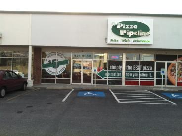 Pizza Pipeline retail signage