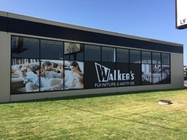 Walker's Furniture retail store windows