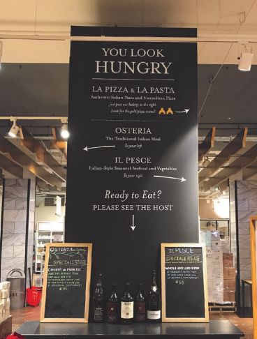 Eataly Chicago - White Cut Vinyl Wall Graphics