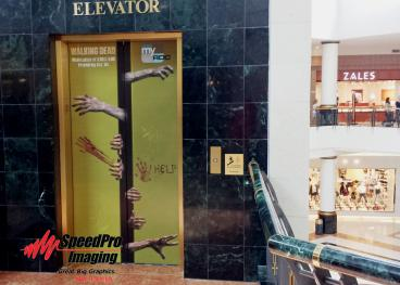 New Elevator Graphics at Crabtree Valley Mall