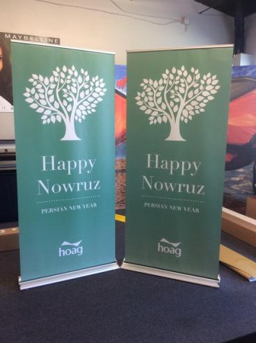 Hoag Persian New Year Retractable Banner Stand