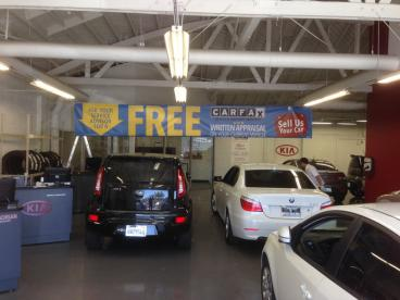 Sage Kia Dealership Hanging Banners