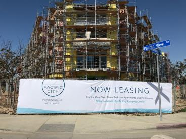 UDR Pacific City Now Leasing South Corner Banner