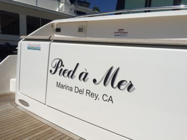 Pied a Mer Boat Decal