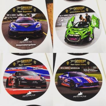 Protective Film Solutions Gold Rush Rally Stickers