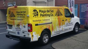 Maya painting truck wrap