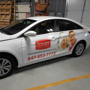 Home Care Assistance Car Wrap