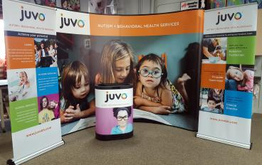 JUVO tradeshow set up
