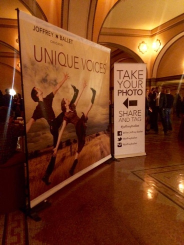 Joffrey Ballet Backdrop and Retractable Banner