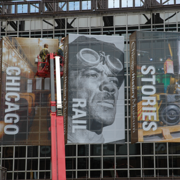 Chicago History Museum Facade Banners