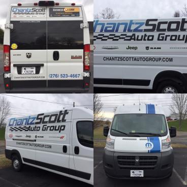 Decals for Chantz Scott Auto Group