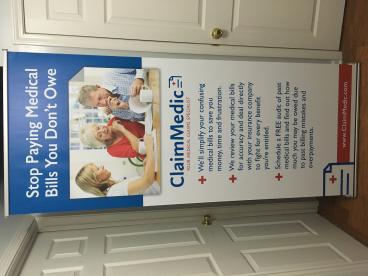 Claim Medic Indoor Signage