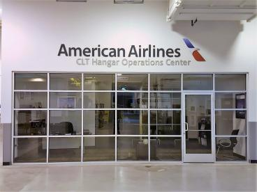 Interior Signage - American Airlines CLT Hangar Operations Center
