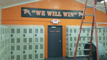 PVC sign with door decal. Getting ready for the season.