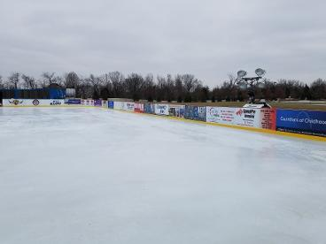 Dasher boards for ice rink