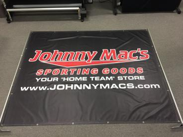 Banner advertising at school athletic events