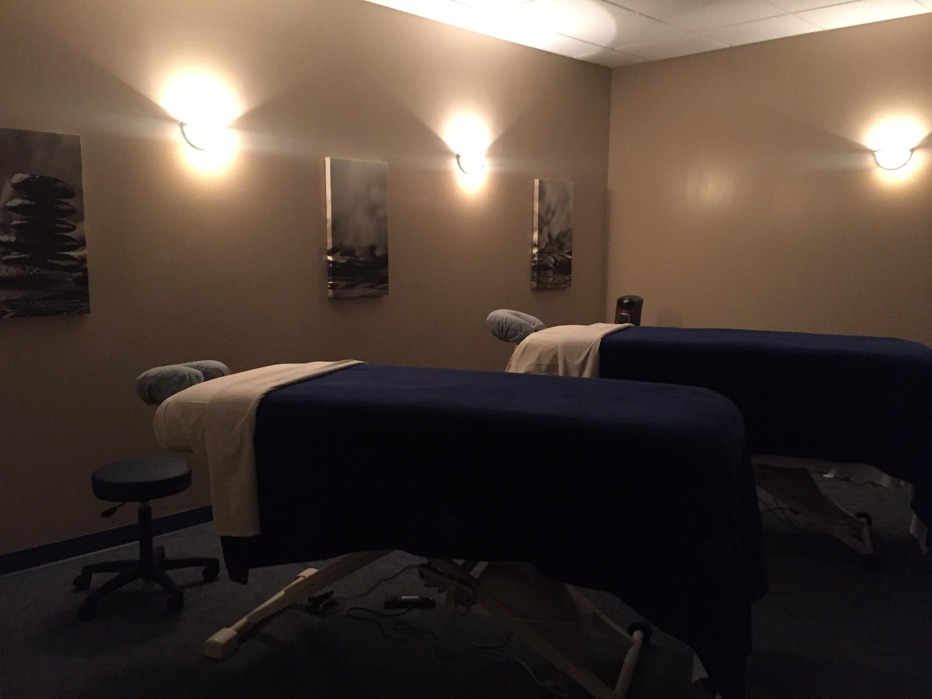 Our lovely couples massage room in Gainesville, FL.