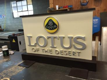 Sage Auto Lotus Outdoor Sign
