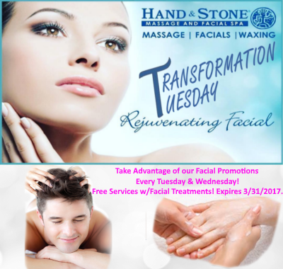 Complimentary Services with Facial Treatment