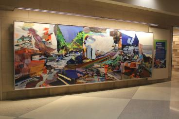 17' Custom Wall Mural - Philadelphia International Airport